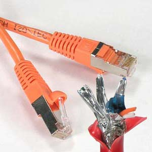 Cat5e Ethernet Patch Cable UL cm and 100/% Copper. 24AWG, 50u Gold Plating 44 Ft Made in USA, RJ45 Computer Networking Cord - Orange